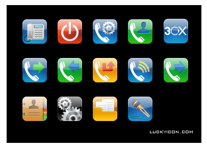 Set of iPhone style icons for 3CX Phone System by 3CX Ltd