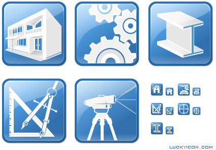 Set of icons for AllyCAD