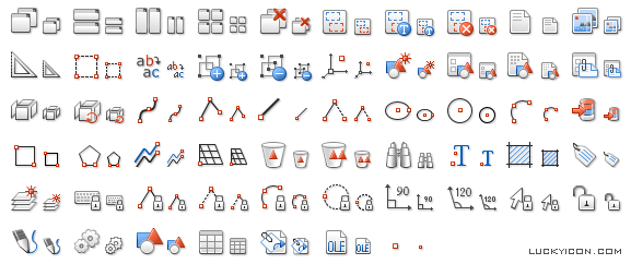 Set of icons for AllyCAD by Knowledge Base