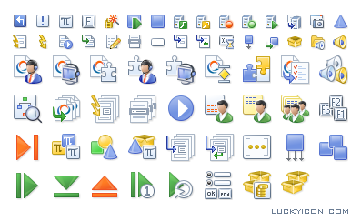 Set of icons for Script Developer by Altitude Software
