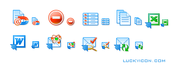 Set of icons for Atomic Email Hunter