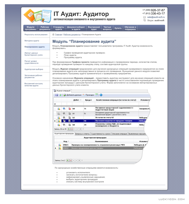 Design of the website for IT Audit: Auditor