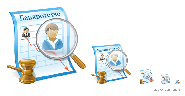 Product icon in Vista style for IT Audit: Bankruptcy of businesses by Master-Soft