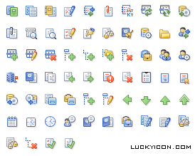 Set of icons for IT Audit: Document management system by Master-Soft