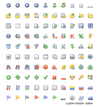 Set of icons for AutoCatalogue by AutoSoft