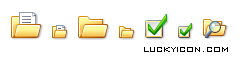 Set of icons for software products by Beyond Browsing