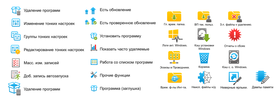 Set of icons for Reg Organizer