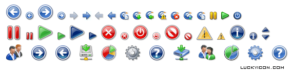 Set of icons for Cucku Backup