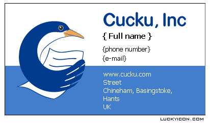 Name cards for Cucku, Inc./ UK standart