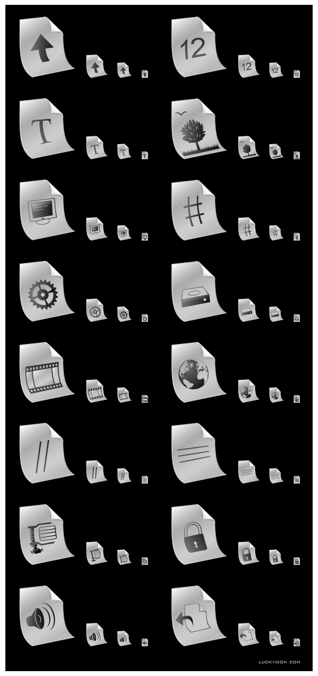 Icons of files for DepositFiles