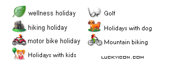 Set of icons for Destination Suedtirol