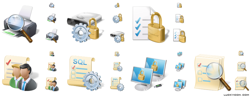 Product icons in Vista style for DeviceLock by SmartLine Inc