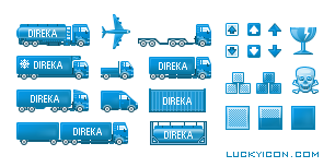 Icons for the website direka.com