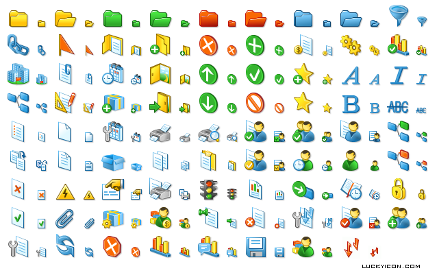 Set of icons for DMM Solutions