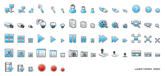 Set of icons for Drag-Net VR