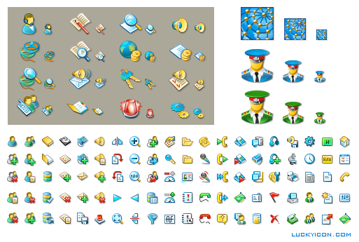 Set of icons for Drag-Net by T & T International