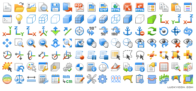 Icons for software of ESI Group