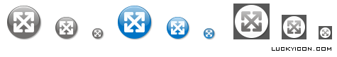 Set of icons for website eurocran.com