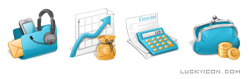 Set of icons for the website Gravitel.ru