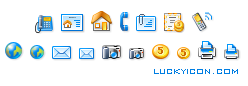 Set of icons for www.housenet.nl