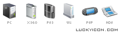 Icons of consoles for the Igromania's game-magazine website