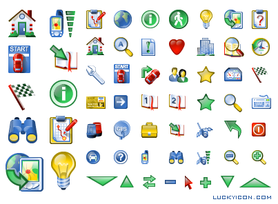 Set of icons for Information Retrieval Navigational System by Informap Technology