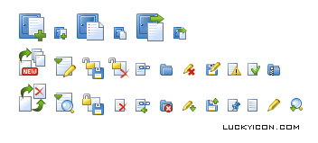 Set of icons for @DocVCS by Infor Technology