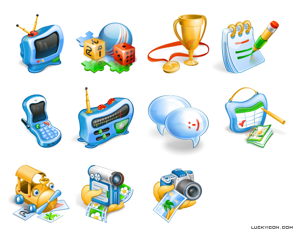 Set of icons for the kids software
