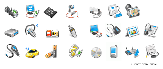 Set of icons for www.mosgsm.ru