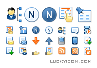 Set of icons for the website hotelnewsresource.com by Nevistas