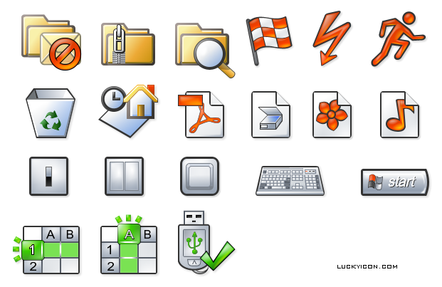 Set of icons for www.nlearnseries.com