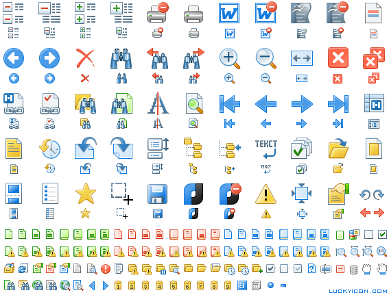 Set of icons for NormaCS by ZAO Nanosoft