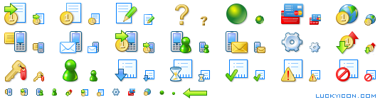 Set of icons for the e-commerce website Plati.ru