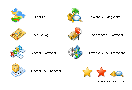 Set of icons for www.pyramid-games.com