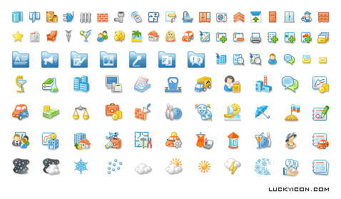 Set of icons for web-portal Samara 24