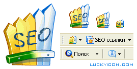Set of icons for SEO Bar