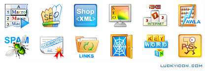 Set of icons for SeoChases web forum