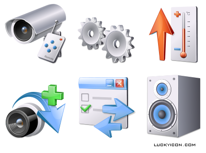 Set of icons in Vista style for software developed by SET-1