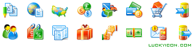 Set of icons for Shop-Script PHP shopping cart software by WebAsyst LLC