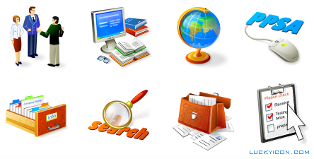 Set of icons for solutionslaw.com website by Solutions Corporate Law Clerk Services Inc.