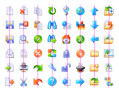 All icons from the free icon set Advanced Icon Set v1.0
