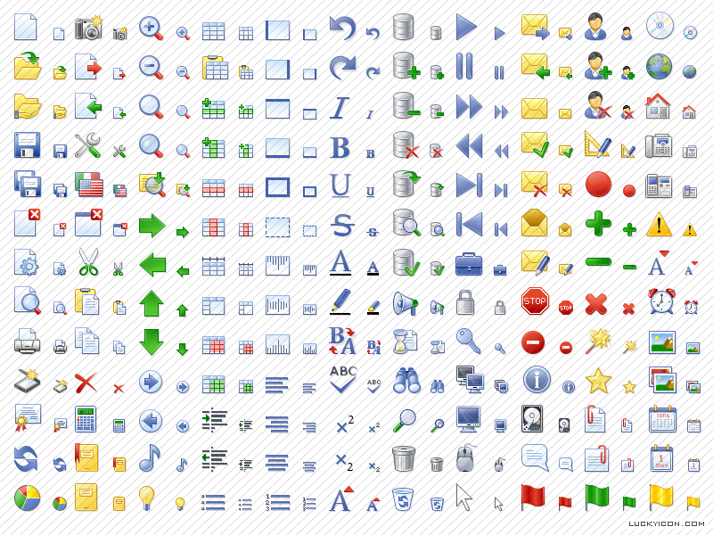 Office Style Icon Set screenshot: office icons,office 2003,stockicons,stock,icon,icons,set,design,toolbar,portfolio,custom,application,XP style,Vista,ico
