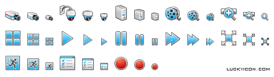 Set of icons for VideoMonitor by T & T International company
