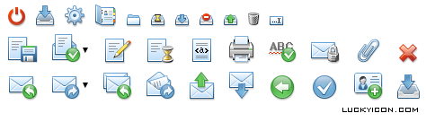 Set of icons for messaging service WebMoney Mail