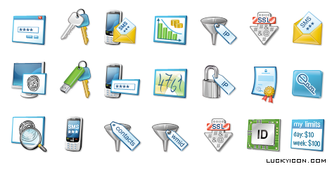Icons for the section of website WebMoney Wiki