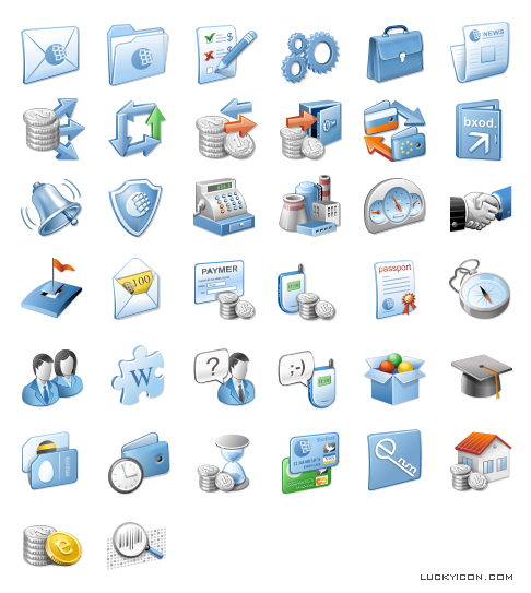 Set of icons for www.wmtransfer.com by WebMoney Transfer