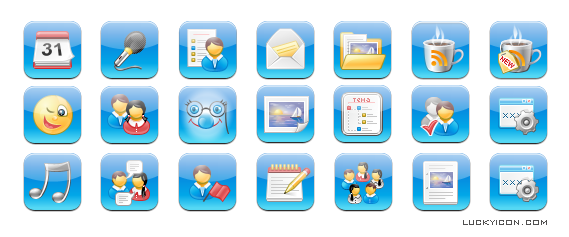 Set of icons for iPhone for Web Interactive World